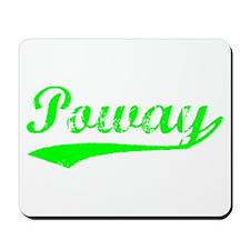 Vintage Poway (Green) Mousepad
