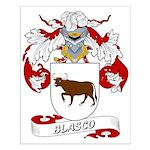 Blasco Family Crest Small Poster
