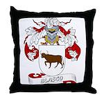 Blasco Family Crest Throw Pillow