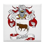Blasco Family Crest Tile Coaster