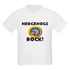 Hedgehogs Rock! Kids Light T-Shirt