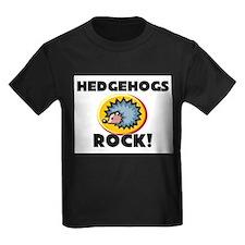 Hedgehogs Rock! Kids Dark T-Shirt
