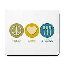 Peace Love Spoons Mousepad