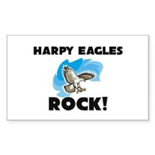 Harpy Eagles Rock! Rectangle Decal