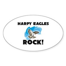 Harpy Eagles Rock! Oval Decal