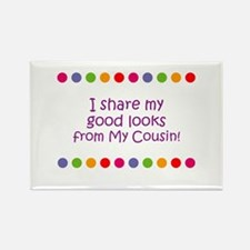 I share my good looks from My Rectangle Magnet