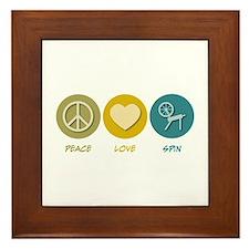 Peace Love Spin Framed Tile