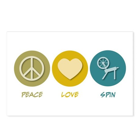 Peace Love Spin Postcards (Package of 8)