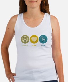 Peace Love Spin Women's Tank Top