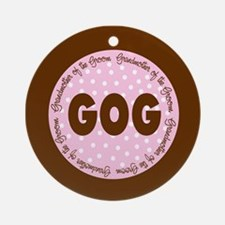 Polka Dot Groom's Grandmother Ornament (Round)
