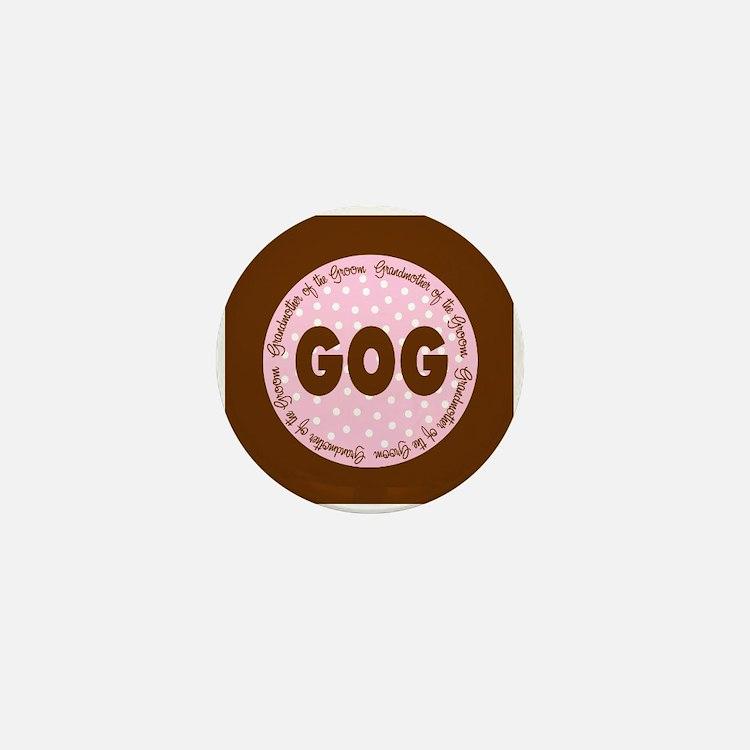 Polka Dot Groom's Grandmother Mini Button