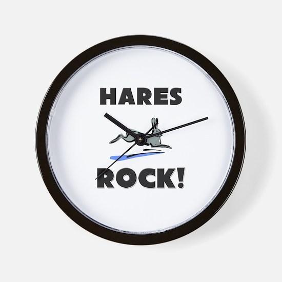 Hares Rock! Wall Clock