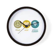 Peace Love Speech Therapy Wall Clock