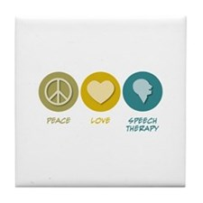 Peace Love Speech Therapy Tile Coaster