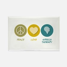 Peace Love Speech Therapy Rectangle Magnet (10 pac