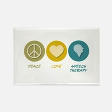 Peace Love Speech Therapy Rectangle Magnet