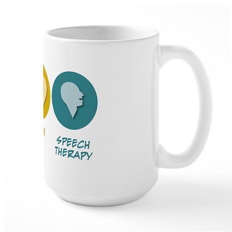 Peace Love Speech Therapy Large Mug