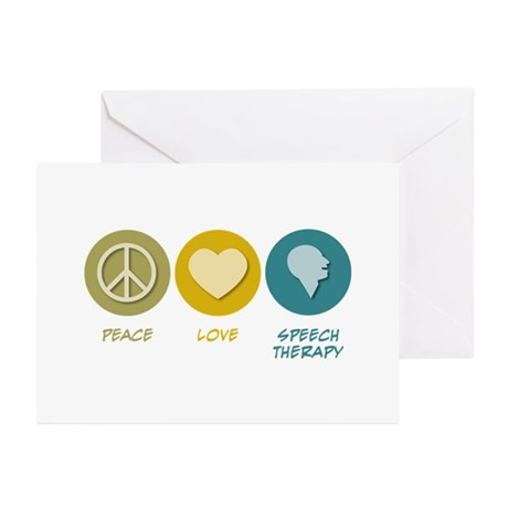 Peace Love Speech Therapy Greeting Cards (Pk of 20