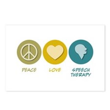Peace Love Speech Therapy Postcards (Package of 8)