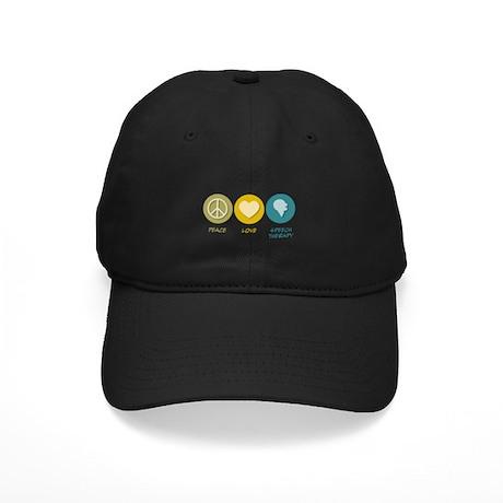Peace Love Speech Therapy Black Cap