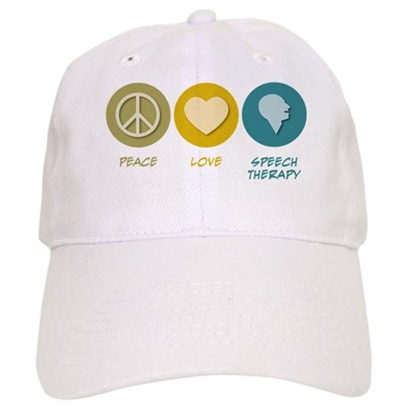 Peace Love Speech Therapy Cap