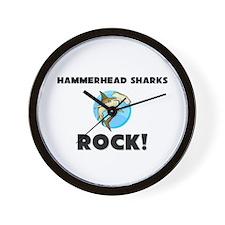 Hammerhead Sharks Rock! Wall Clock