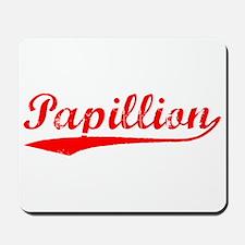 Vintage Papillion (Red) Mousepad