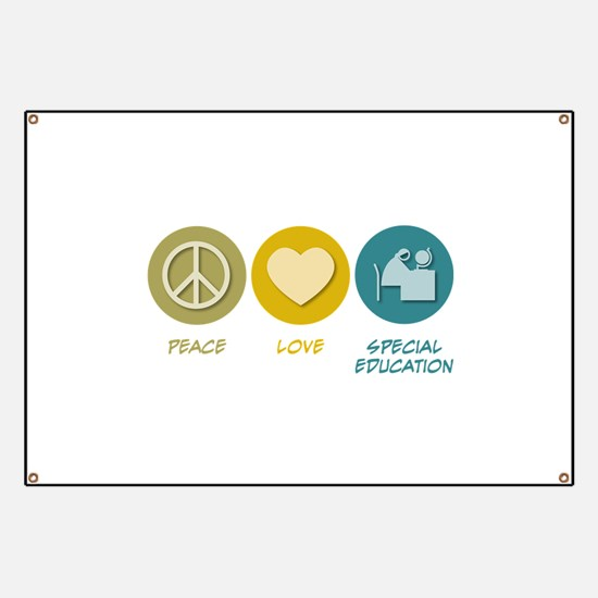Peace Love Special Education Banner