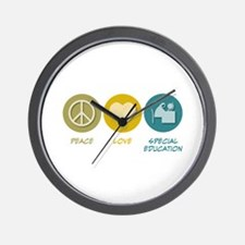 Peace Love Special Education Wall Clock