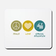 Peace Love Special Education Mousepad