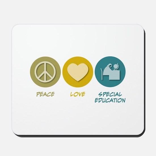 Peace Love Special Education Mousepad