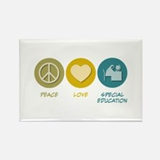 Peace Love Special Education Rectangle Magnet