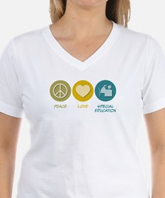 Peace Love Special Education Shirt