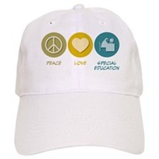 Peace Love Special Education Baseball Cap