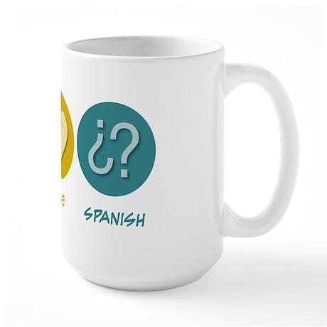 Peace Love Spanish Large Mug