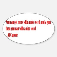 Kind Words Oval Decal