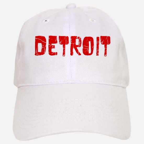 Detroit Faded (Red) Baseball Baseball Cap