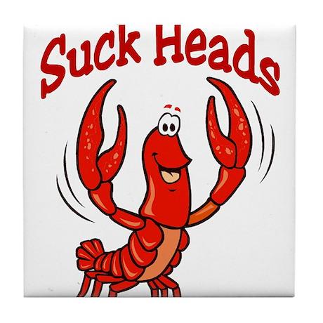 Suck Heads Tile Coaster