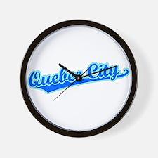 Retro Quebec City (Blue) Wall Clock