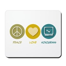 Peace Love Sonograms Mousepad