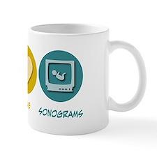 Peace Love Sonograms Mug