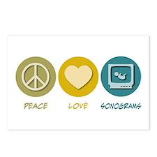 Peace Love Sonograms Postcards (Package of 8)