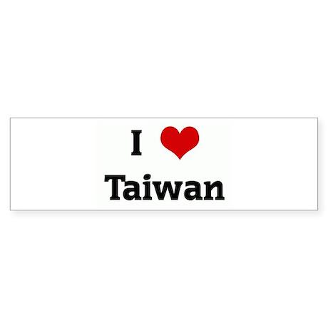 I Love Taiwan Bumper Sticker