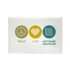 Peace Love Software Architecture Rectangle Magnet