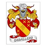 Caballero Family Crest Small Poster
