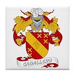 Caballero Family Crest Tile Coaster