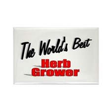 """"""" The World's Best Herb Grower"""" Rectangle Magnet"""