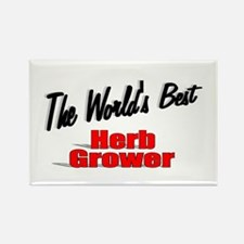 """ The World's Best Herb Grower"" Rectangle Magnet"