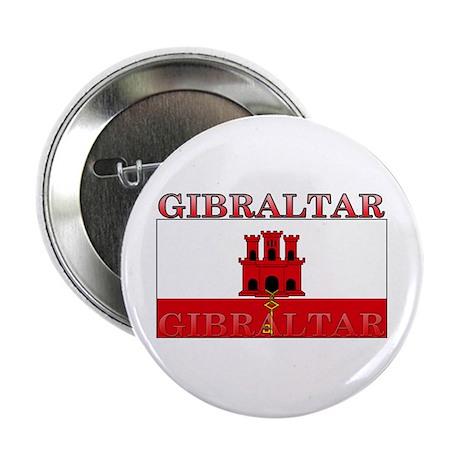 """Gibraltar Flag 2.25"""" Button"""