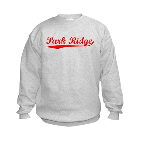 Vintage Park Ridge (Red) Kids Sweatshirt